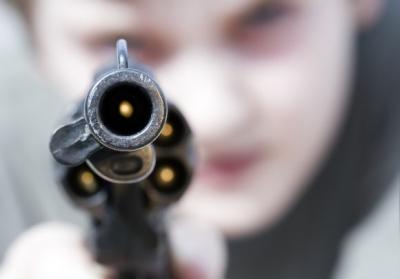 Chamber of a loaded gun
